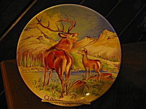 Monarch Of The Glen Christmas Plate 1979