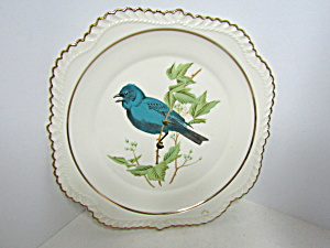 Vintage Collector Plate Bluebird On A Limb