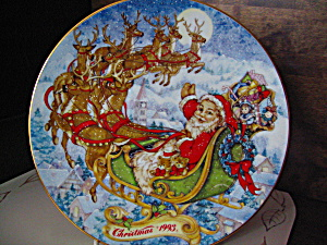 Avon 1993 Chistmas Plate Special Christmas Delivery