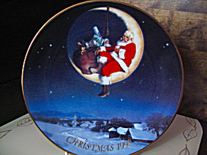 Avon 1998 Christmas Plate Greetings From Santa
