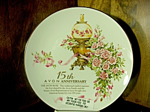 Avon Rose Plate 15th Avon Anniversary