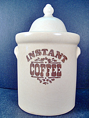 Pfaltzgraff Brown Village Instant Coffee Canister