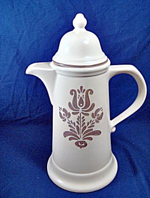 Pfaltzgraff Coffee/Cocoa Pot  Brown Village (Image1)
