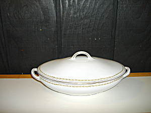 Vintage Z,s & Co. Scherzer Oval Covered Serving Bowl