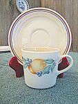Click here to enlarge image and see more about item abunc4m: Corelle Abundance Cup and Saucer Set