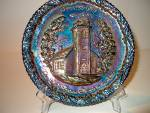 Click here to enlarge image and see more about item amfenp2o:  Fenton Amethyst Carnival Christmas Plate