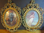 Click here to enlarge image and see more about item apwd14m: Vintage Made In Italy Boy And Girl Wall Hangings