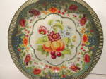 Click here to enlarge image and see more about item artda2: Vintage Daher Decorated Ware Fruit Design Bowl