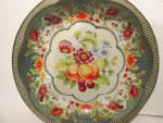 Click here to enlarge image and see more about item artda2g: Vintage Daher Decorated Ware Fruit Design Bowl