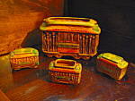 Click here to enlarge image and see more about item artgl6a: Powell- Hyde Trolley Vintage San Francisco Souvenir Set