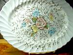 Click here to enlarge image and see more about item bafb1o: British Anchor Floral Bouquet 12 in. Platter