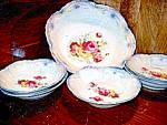Click here to enlarge image and see more about item bavgerc1m: Vintage Bavaria Pearl Luster Berry Set China
