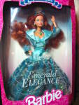 Click here to enlarge image and see more about item bfash3p: Emerald Elegance Barbie