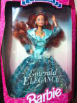 Click here to enlarge image and see more about item bfash3v: Emerald Elegance Barbie