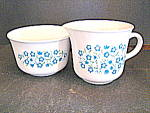 Click here to enlarge image and see more about item bhc2d: Corelle Blue Heather Sugar Bowl & Creamer Set