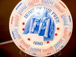 Click here to enlarge image and see more about item calcpcll2p: Calendar Plate Home of the Free 1980