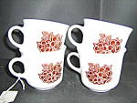 Click here to enlarge image and see more about item cbatbb1o: Corelle Batik Set Of 4 Coffee Cups