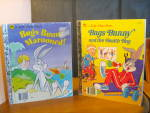 Click here to enlarge image and see more about item cgb16m: Golden Book Bugs Bunny Set of Two