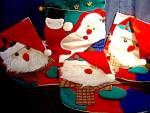 Click here to enlarge image and see more about item chrisd13l: Vintage Christmas Santa Stocking/Banner Set