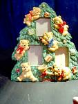 Click here to enlarge image and see more about item chrisd4l: Christmas Tree Bear Pitcure Frame