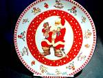 Click here to enlarge image and see more about item chrisxe16a: Christmas 1997 Santa Plate by Giordano