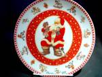 Click here to enlarge image and see more about item chrisxe16k: Christmas 1997 Santa Plate by Giordano