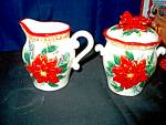 Click here to enlarge image and see more about item chrisxe6g: Holiday Ceramic Sugar & Creamer Set