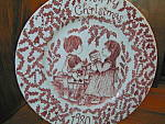 Click here to enlarge image and see more about item cp6l: Merry Christmas 1980 Ironstone Plate