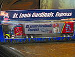 Click here to enlarge image and see more about item ctruck12n: White Rose St. Louis Cardinals Express Diecast Truck