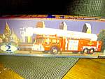 Click here to enlarge image and see more about item ctruck2n: Sunoco 1995Collector's Edition Aerial Tower Fire  Truck