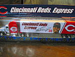 Click here to enlarge image and see more about item ctrucks9n: White Rose Cincinnati Reds Express Diecast Truck