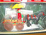 Click here to enlarge image and see more about item ctst6g: Coca Cola Town Square Collectables Horse drawn Wagon