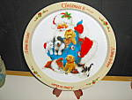 Click here to enlarge image and see more about item ctt6l: Christmas Tin Tray Santa And Puppies
