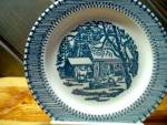 Click here to enlarge image and see more about item cuiv10m: Currier & Ives Dessert/Bread Plate