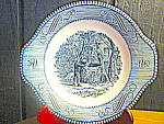 Click here to enlarge image and see more about item cuiv16m: Currier & Ives Gravy Under Plate