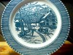 Click here to enlarge image and see more about item cuiv1w:  Currier&Ives Dinner Plate American Homestead Winter