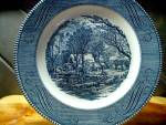 Click here to enlarge image and see more about item cuiv2q: Currier & Ives Dinner Plate The Old Grist Mill