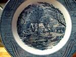 Click here to enlarge image and see more about item cuiv3o: Curier&Ives Dinner Plate The Old Grist Mill Plate