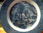 Click here to enlarge image and see more about item cuiv3w: Curier&Ives Dinner Plate The Old Grist Mill Plate