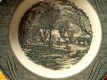 Click here to enlarge image and see more about item cuiv4q: Currier&Ives Dinner Plate Old Grist Mill Jeannette