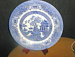 Click here to enlarge image and see more about item ewe1h: EIT English Willow Dinner Plate