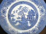 Click here to enlarge image and see more about item ewe1i: EIT English Willow Dinner Plate
