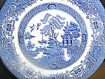 Click here to enlarge image and see more about item ewe2h: EIT English Willow Salad Plate
