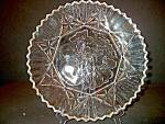 Click here to enlarge image and see more about item federal2n: Plate Crystal Pioneer Line Federal Glass