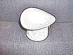 Click here to enlarge image and see more about item fenmg2a: Fenton Milk Glass Hat Daisy and Button Pattern
