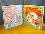 Click here to enlarge image and see more about item flgb7l:  Curious Kitten's Frist Christmas & Duck's Moving Day