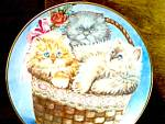 Click here to enlarge image and see more about item frankmint3k: Limited Edition Three Little Kittens Plate