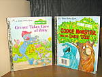 Click here to enlarge image and see more about item gbs9n: Cookie Monster,The Cookie Tree & Grover Take Care  Baby