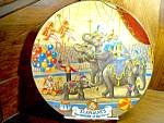 Click here to enlarge image and see more about item hamilton2l: Elephants The Greatest Show On Earth Plate