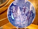 Click here to enlarge image and see more about item hamilton3p: Feburari Delfware Collector Plate